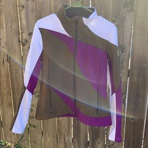 Spyder  color blocked zip up jacket